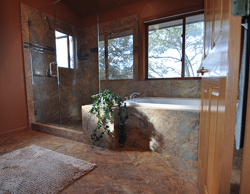 Bathroom remodel projects by Barron's Abbey Flooring & Design in Sutter Creek, California